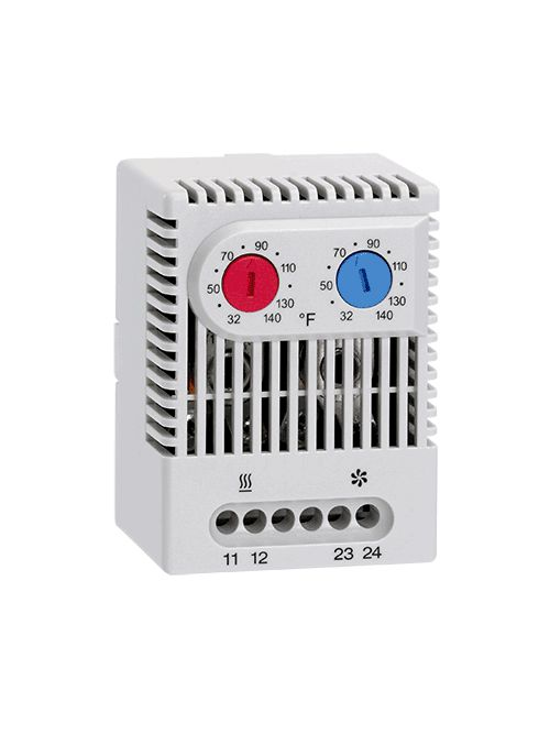 Hoffman ADLTEMP 1NO 1NC Light Gray Plastic Dual Thermostat