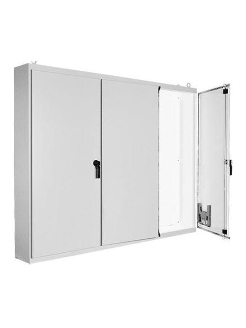 Hoffman A86M3ELP 86.12 x 112 x 14.12 Inch White Steel NEMA 12 3-Door Free Stand Enclosure