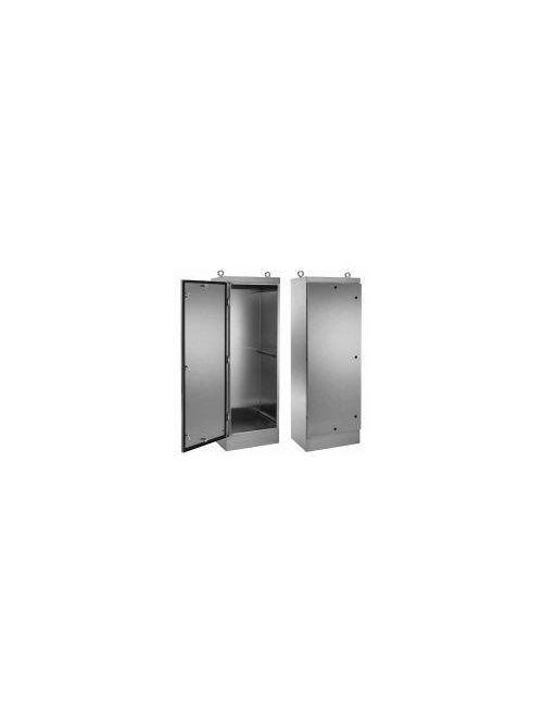 Hoffman A72HS3624SSLPQT 72.06 x 36.06 x 24.06 Inch 14 Gauge 304 Stainless Steel NEMA 4X 1-Door Free Stand Floor Mount Enclosure