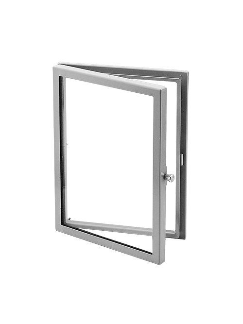 Hoffman APWK2420H 24 x 20 Inch Gray Steel Window Kit