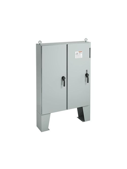 Hoffman A72X7312LPFTC 72.13 x 73.75 x 12.12 Inch White Steel NEMA 12 2-Door Free Stand Disconnect Enclosure