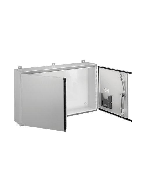 Hoffman A304210WFLP 30 x 42 x 10 Inch 14 Gauge Steel NEMA 12 2-Door Wall Mount Enclosure