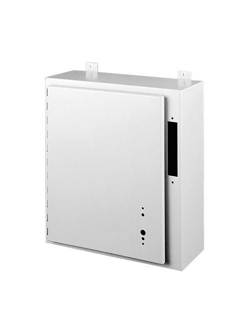 Hoffman A24AB2210LP 24 x 21.38 x 10 Inch White/Gray 14 Gauge Steel NEMA 12 Wall Mount Disconnect Enclosure