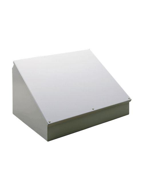 Hoffman C16C24SS 16 x 24 x 11.09 Inch Gray 14 Gauge 304 Stainless Steel NEMA 12 Junction Box Consolet Enclosure