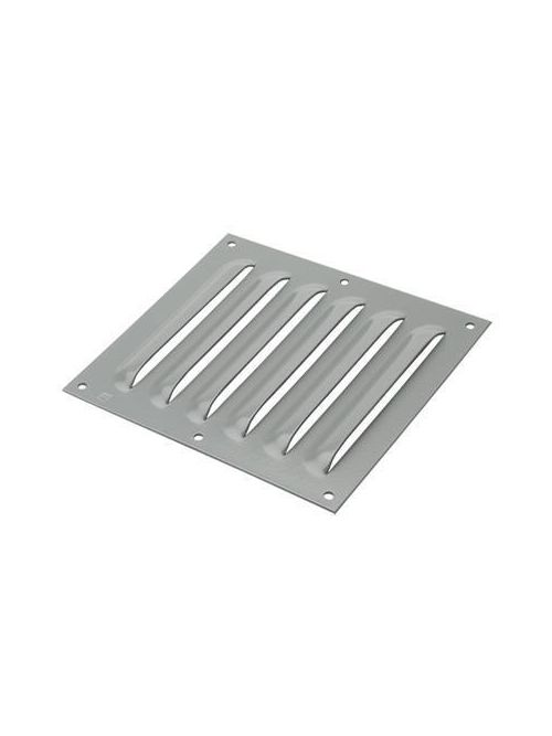 Hoffman AVK23SS6 3.25 x 3.25 Inch Gray Polyester Powder Painted 316L Stainless Steel Louver Plate Kit