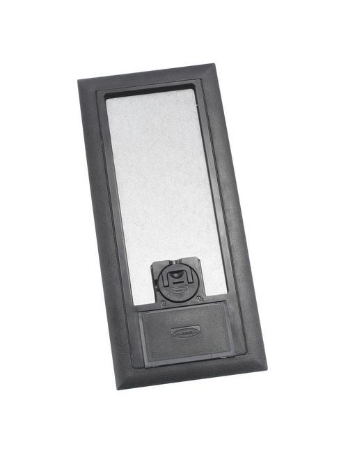 Hubbell Wiring Devices 3SFBCBKA 11.88 x 5.2 Inch Black Reinforced Non-Metallic Floor Box Cover