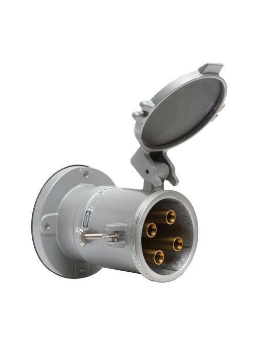 Hubbell HBL4200RS2WR 200 Amp 600 VAC 250 VDC 3-Pole 4-Wire Style II Watertight IEC Pin and Sleeve Receptacle