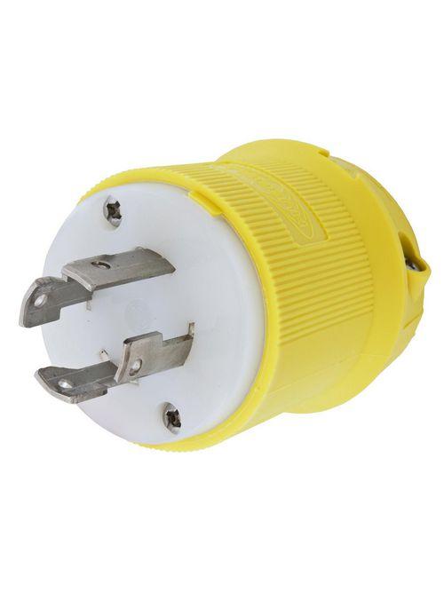 Hubbell Wiring Devices HBL27CM31 30 Amp 480 Volt 3-Pole 4-Wire NEMA L16-30P Yellow Locking Plug
