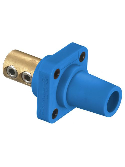 Hubbell Wiring Devices HBLFRBL 400 Amp 1-Pole Blue Double Set Screw Female Cam Type Receptacle