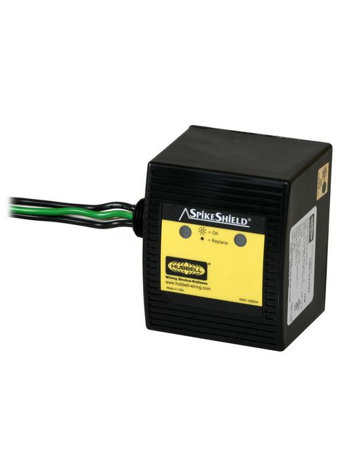 Hubbell Wiring Devices HBL3W50 1-Phase 120/240 VAC 50 kA Wired-In Surge Protective Device