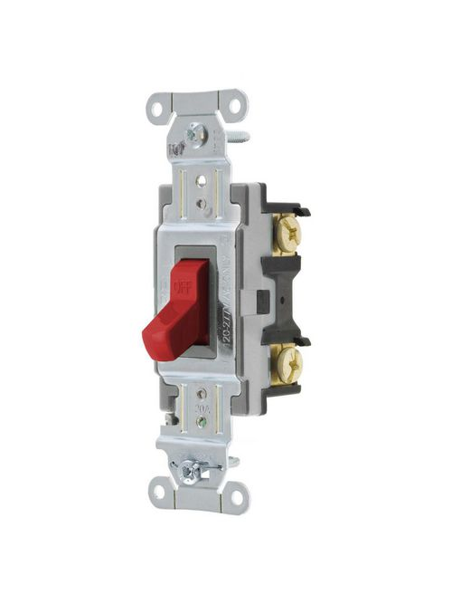 Hubbell Wiring Devices CSB120R 20 Amp 120/277 VAC 1-Pole Red Toggle Switch