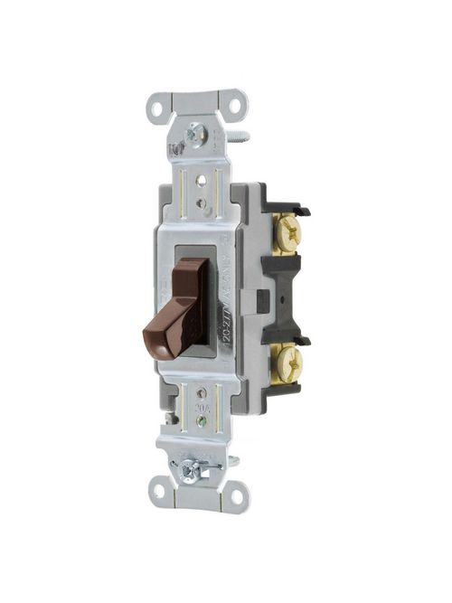 Hubbell Wiring Devices CSB420 20 Amp 120/277 VAC 4-Way Brown Toggle Switch