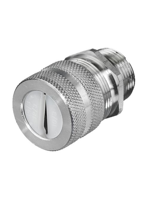 Hubbell Wiring Devices UFC0001 1/2 Inch Threaded 0.2 to 0.4 Inch Machined Aluminum Straight Female Underground Feeder Connector