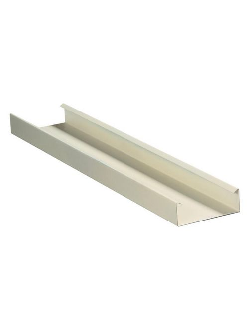 Hubbell Wiring Devices HBL4750B10IV 10 Foot Ivory Metal Raceway Single Channel Base