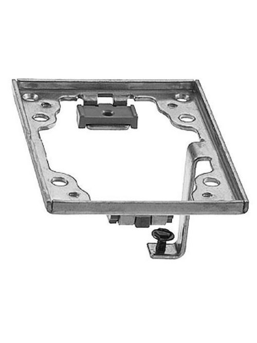 Hubbell Wiring Devices SA5017G 4.36 x 3.2 Inch Aluminum Rectangular Adapter Frame with Grounding Lug