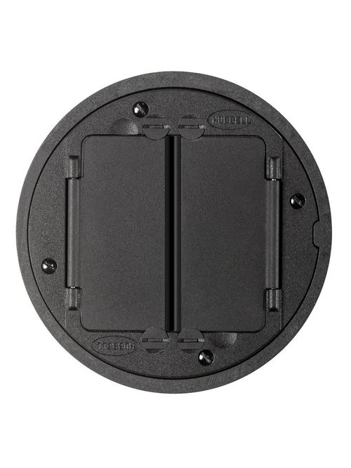 Hubbell Wiring Devices S1TFCBL SystemOne Black Finish Universal Cover for Tile Assembly