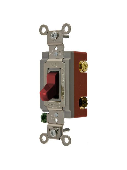 Hubbell Wiring Devices HBL1224R 20 Amp 120/277 VAC 4-Way Red Toggle Switch