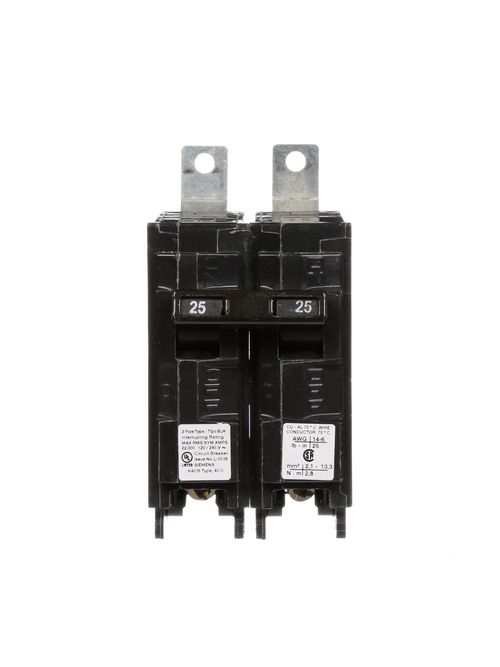 Siemens Industry B225H 2-Pole 25 Amp 120/240 VAC 22 kA Bolt-On Molded Case Circuit Breaker