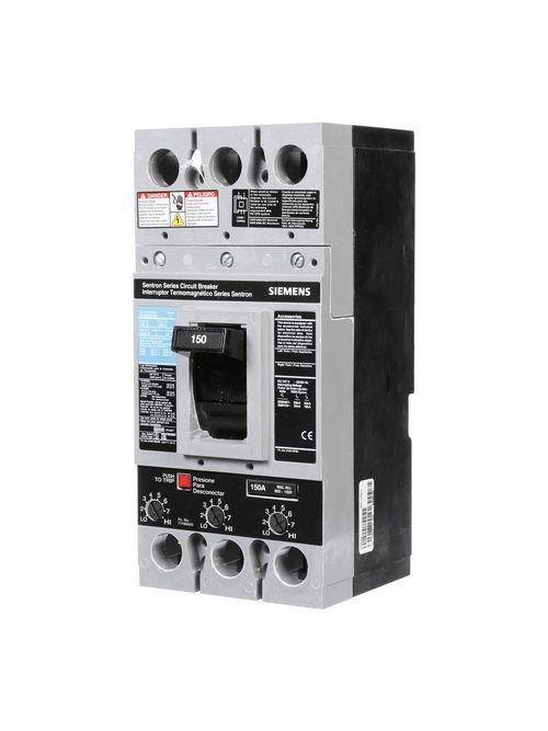 Siemens Industry FXD63B150L 3-Pole 150 Amp 600 VAC 22 kA ETI Circuit Breaker