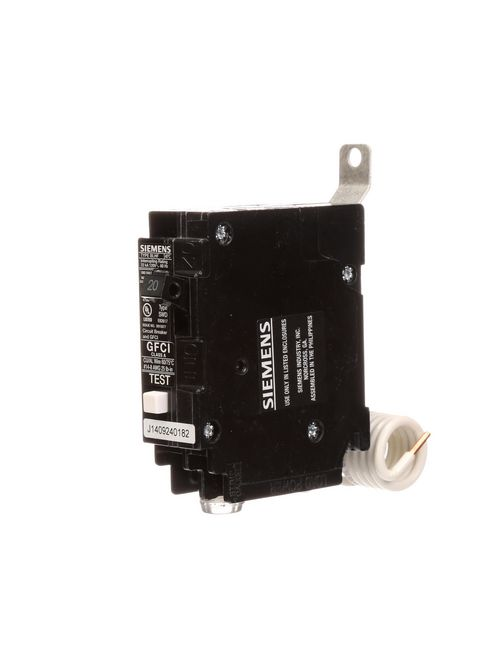 Siemens Industry BF120H 1-Pole 20 Amp 120 VAC 22 kA Bolt-On Ground Fault Circuit Breaker