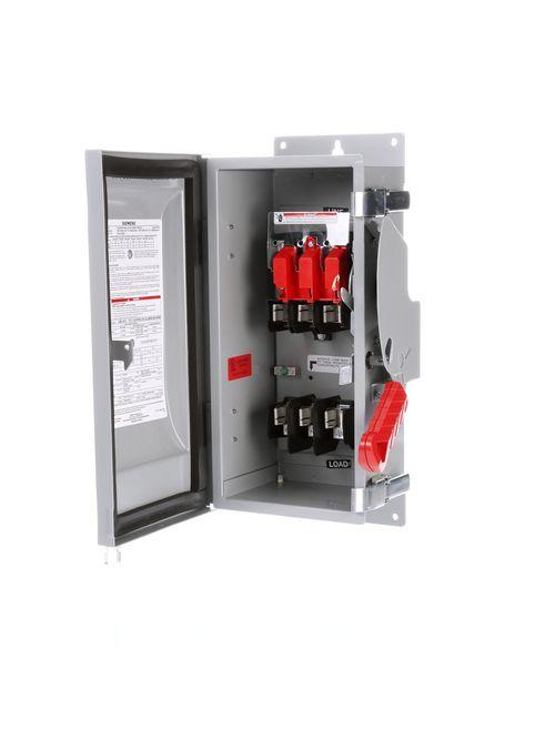 Siemens Industry HF361J 480/600 VAC 250 VDC 30 Amp 3-Pole 3-Wire NEMA 12 Heavy Duty Fusible Safety Switch
