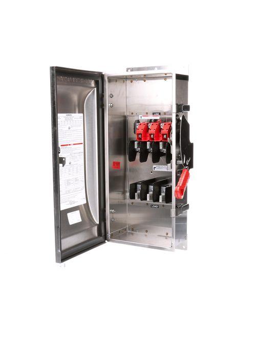 Siemens Industry HF363S 480/600 VAC 250/600 VDC 100 Amp 3-Pole 3-Wire NEMA 4/4X Heavy Duty Fusible Safety Switch