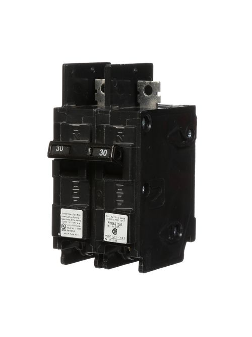 Siemens Industry BQ2B030H 2-Pole 30 Amp 120/240 VAC 22 kA Circuit Breaker