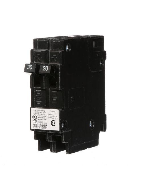 Siemens Industry Q3020 120 Volt 30/20 Amp 10 kaic 1-Pole QT Duplex Circuit Breaker