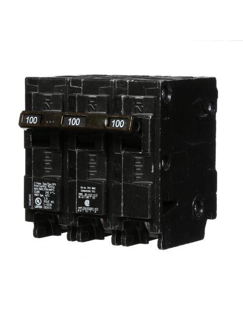 Siemens Industry Q3100H 3-Pole 100 Amp 240 VAC 22 kA Plug-In Circuit Breaker