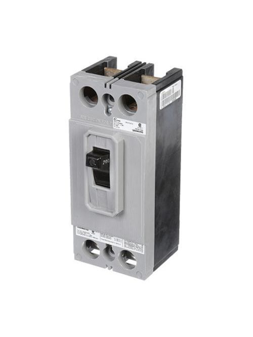 Siemens Industry QJ22B200H 200 Amp 42 kA 240 Volt 2-Pole Type QJ Circuit Breaker