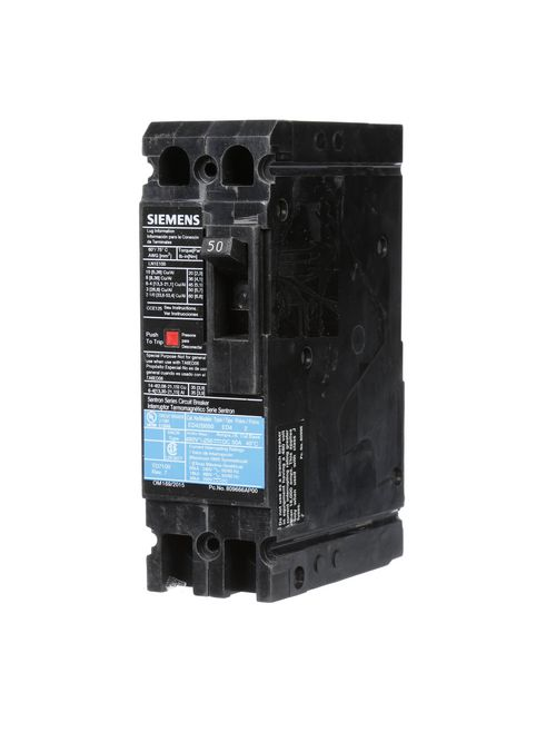 Siemens Industry ED42B050 480 VAC 50 Amp 18 kaic 2-Pole Circuit Breaker with LD Lug