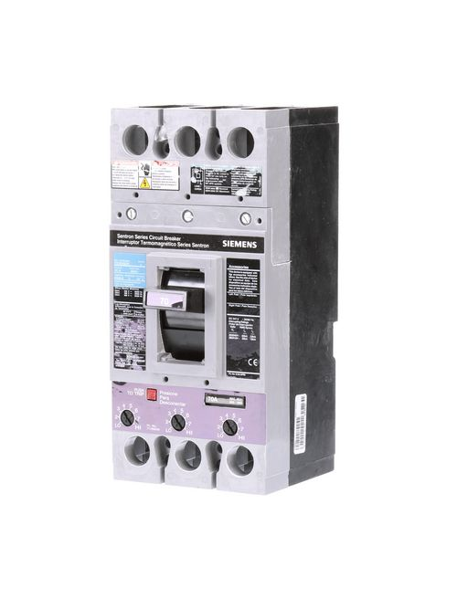 Siemens Industry FXD63B070 3-Pole 600 VAC 70 Amp 22 kA Non-Interchangeable Trip Thermal Magnetic Molded Case Circuit Breaker