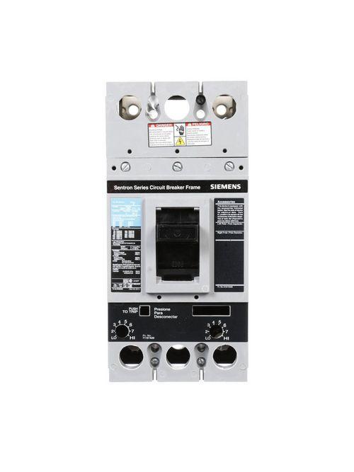 Siemens Industry FD63B225 3-Pole 600 VAC 225 Amp 22 kA Interchangeable Trip Thermal Magnetic Molded Case Circuit Breaker