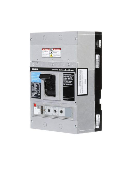 Siemens Industry JD63B400 3-Pole 600 VAC 400 Amp 25 kA Interchangeable Trip Thermal Magnetic Molded Case Circuit Breaker