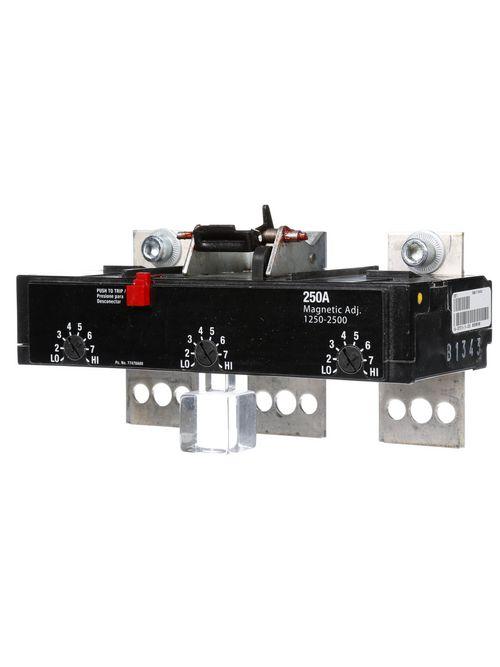 Siemens Industry JD63T250 3-Pole 250 Amp 600 VAC 25 kA Molded Case Circuit Breaker Trip Unit