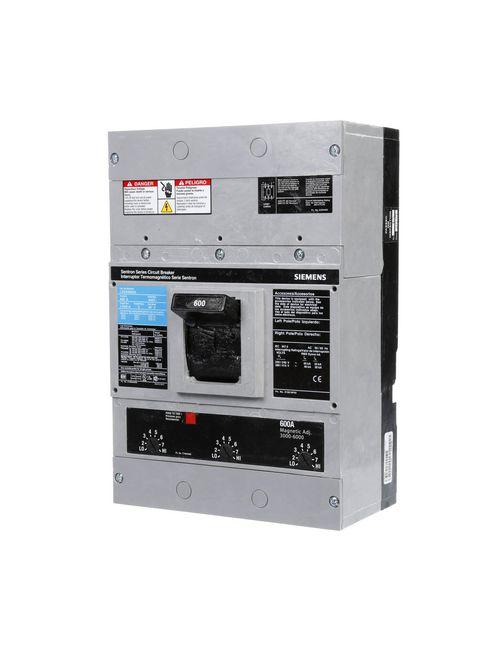 Siemens Industry LXD63B600 3-Pole 600 Amp 600 VAC 25 kA Molded Case Circuit Breaker