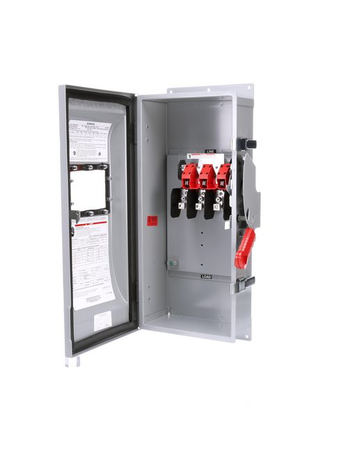 Siemens Industry HNF363JW 240/480/600 VAC 250/600 VDC 100 Amp 3-Pole 3-Wire NEMA 3R/3S/12 Heavy Duty Non-Fusible Safety Switch