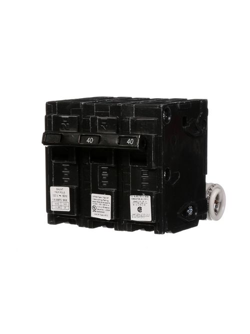 Siemens Industry Q24000S01 2-Pole 40 Amp 120/240 VAC 10 kA 120 Volt Shunt Trip Molded Case Circuit Breaker