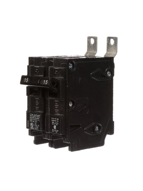 Siemens Industry B215H 2-Pole 15 Amp 120/240 VAC 22 kA Bolt-On Molded Case Circuit Breaker