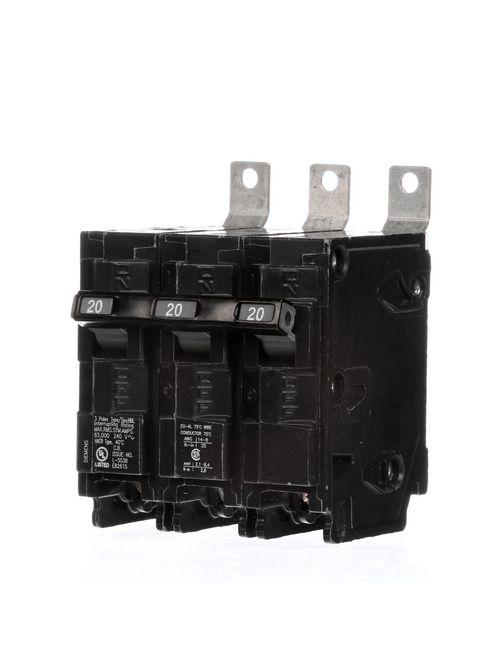 Siemens Industry B320HH 3-Pole 20 Amp 240 VAC 65 kA Bolt-On Molded Case Circuit Breaker
