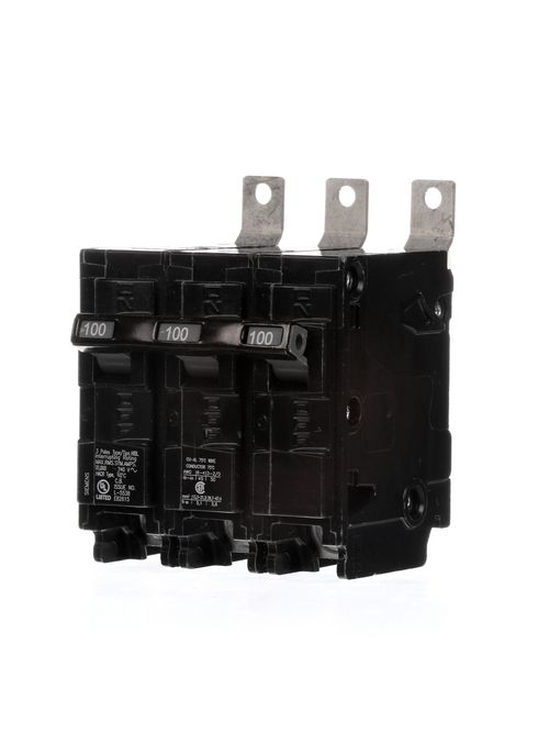 Siemens Industry B3100HH 3-Pole 100 Amp 240 Volt 65 kA Bolt-On Molded Case Circuit Breaker