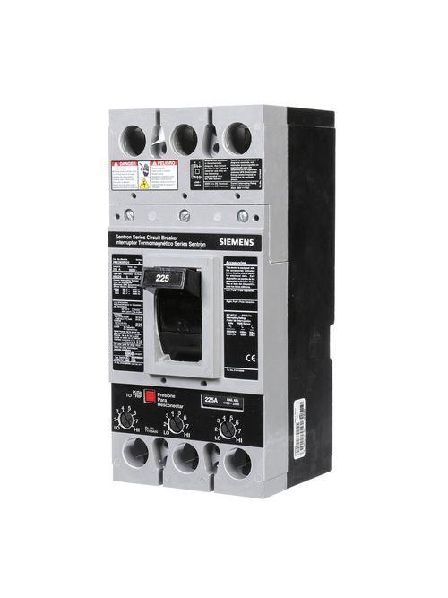 Siemens Industry HFXD63B225 3-Pole 225 Amp 600 VAC 25 kA Molded Case Circuit Breaker