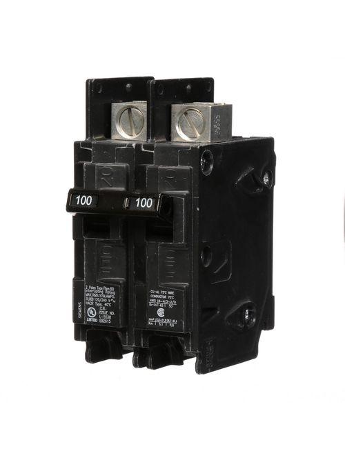 Siemens Industry BQ2B100L 2-Pole 100 Amp 120/240 VAC 10 kA Circuit Breaker