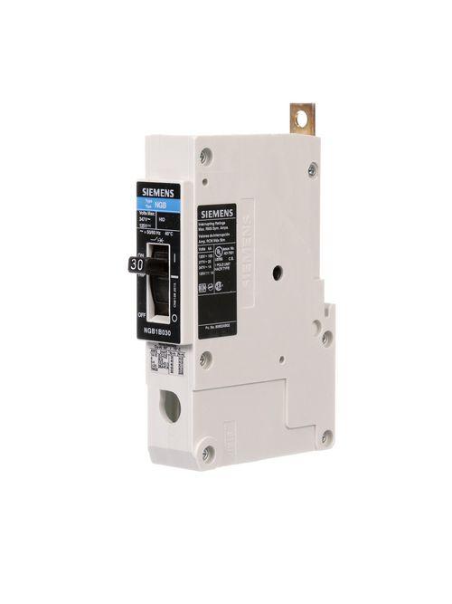 Siemens Industry NGB1B030B 1-Pole 30 Amp 347 Volt 14 kA Molded Case Circuit Breaker