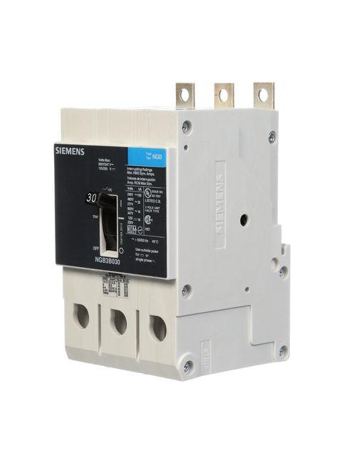 Siemens Industry NGB3B030B 3-Pole 30 Amp 600 Volt 14 kA Molded Case Circuit Breaker