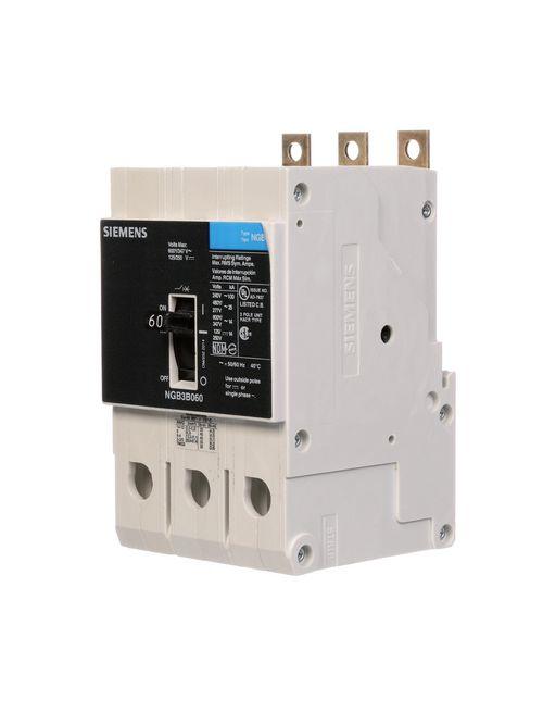 Siemens Industry NGB3B060B 3-Pole 60 Amp 600 Volt 14 kA Molded Case Circuit Breaker