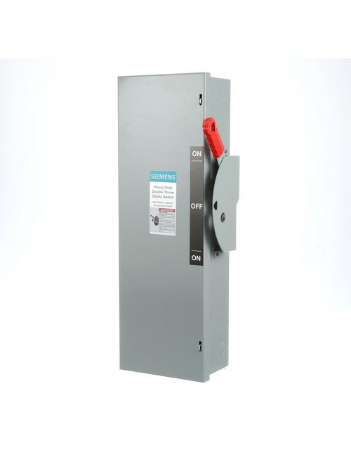 Siemens Industry DTF361 600 VAC/250 VDC 30 Amp 3-Pole 3-Wire NEMA 1 Heavy Duty Fusible Safety Switch