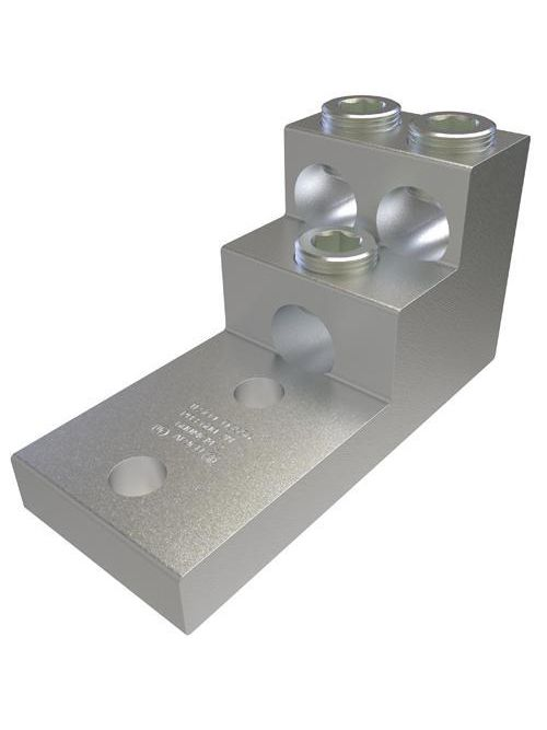 ILSCO PB3-600-2N 1/2 Inch Stud Electrotinned Aluminum Alloy Chamfered Wire Entry Panelboard Lug