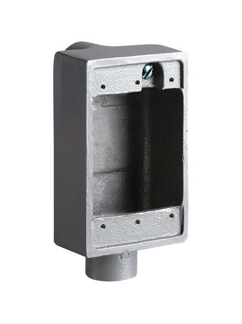 Hubbell Electrical Systems FSLB-2 3/4 Inch Aluminum Shallow Feed-Through Cast Device Box