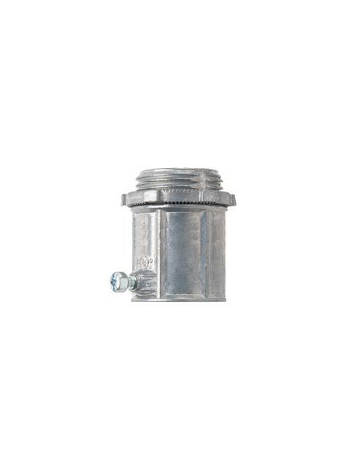 Crouse-Hinds Series 450DC 1/2 Inch Die-Cast Zinc Non-Insulated Set Screw Straight EMT Connector
